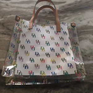 Dooney and Bourke clear plastic tote with DB
